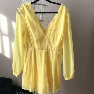 Pants - Yellow long sleeved romper